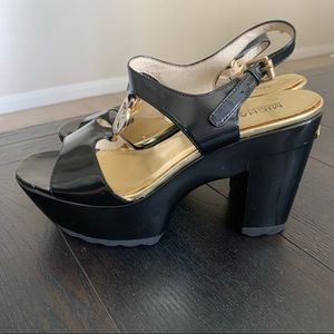 Michael Kors Black Platform Heels Sandals
